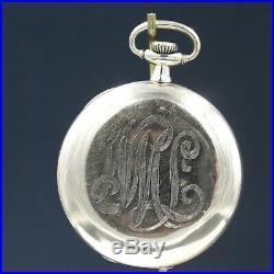 Gold 1916 Hamilton 17 Jewel Pocket Watch Grade 956 Signed Case Large 16s NICE