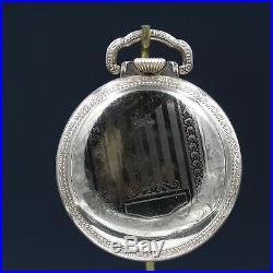 Gold 1919 ILLINOIS 19 Jewel RR Style Pocket Watch Large 16s Fancy Case Grade 706