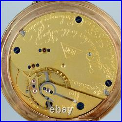 Gold Half Hunting Cased Pocket Watch by Dent