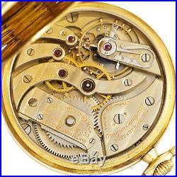 Gold Patek Philippe Pocket Watch 20 Jewel Movt, 18k Gold Case, Original Box