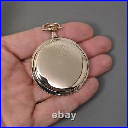 Gruen VeriThin Precision ULTRA Quality Rose Gold Filled Case Pocket Watch AS IS