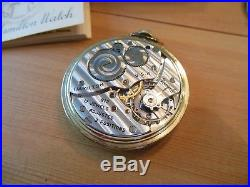 Hamilton 10S 17J Mod 1 Grade 917 Adj 3 Pos 10K GF Case Pocket Watch BOX & CERT