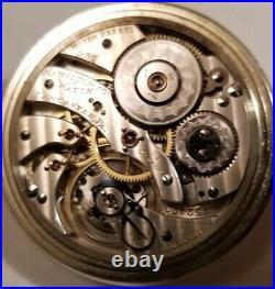 Hamilton 16S. 19 jewel adj grade 952 Montgomery dial Hamilton display case