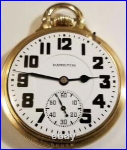 Hamilton 16S grade 992 Elinvar 21J. Adj Boxcar Dial 10K g. F. Model 10 B. O. C. Case