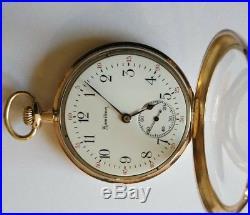 Hamilton 17 jewels 12S. Model 910 near mint gold filled Hamilton case restored