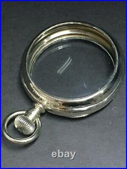 Hamilton 18 Size Pocket Watch Salesman Display Case Two New Crystals