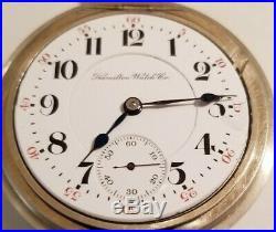 Hamilton 18 size 21 Jewel adjusted grade 940 Railroad watch (1908) nickel case