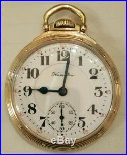 Hamilton 21 jewel 16S. 992 (1928) railroad Hamilton gold filled model A case