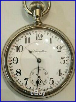Hamilton 21 jewel 16S. Early 992 first pattern (1910) Hamilton display case