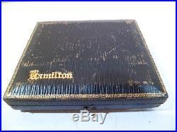 Hamilton 922 23 Jewel 12S Original 14K Solid Gold Open Face Case Original Box