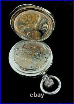 Hamilton 940 18s 21J Massive 5oz. Coin Silver Railroad Case Near Mint condition