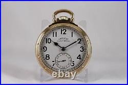 Hamilton 950B 23J Railway Special Display Case Back NICE Railroad Pocket Watch