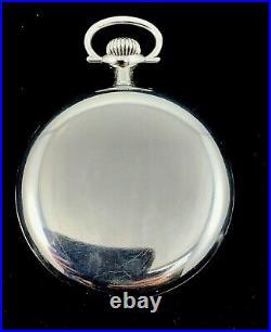 Hamilton 974 16s 17J Pocket watch Nickel Silver Illinois RR Case Near Mint