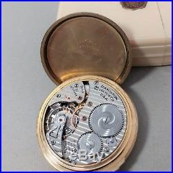 Hamilton 992B RailRoad Pocket Watch in Ivory Bakelite Factory Case Estate Find