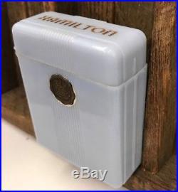 Hamilton Bakelite Cigarette Case Rare BLUE Color Box Pocket Watch 992 950