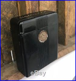 Hamilton Bakelite Cigarette Case Rare Black Color Box Pocket Watch 992 950
