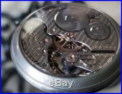 Hamilton Grade 992 Pocket Watch 21j 16s Salesman display Case ticking F233