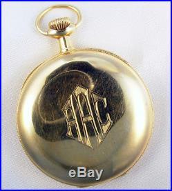 Hamilton Hayden W Wheeler 21 Jewel 16s 14k Gold Original Case Pocket Watch