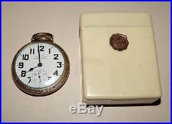 Hamilton Railway Special 992B Size 16 21J Pocket Watch withBakelite Cigarette Case