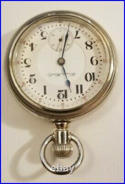 Hampden 18S. Special Railway 21J. Adj. (1907) Railroad pocket watch nickel case