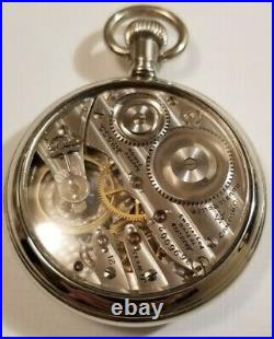 Hampden Scarce 16S 21 jewel adj, Chronometer on dial grade No. 555 display case