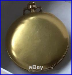 Henry Moser, Swiss pocket watch Extra thin 14k gold case, lever escapement