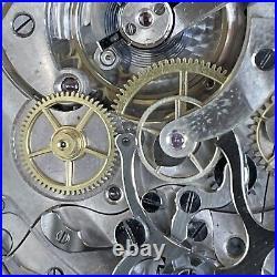 Hi grade Suburban Watch Co 15j 30 Minute Chronograph. 935 Argentum Silver Case