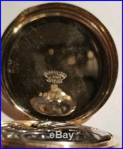 Howard 12 size 17 jewels adjusted series 7 bridge movement (1911) 14K. G. F. Case