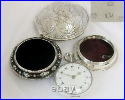 Huge verge fusee Pocket Watch George Prior London with 4 cases year 1806