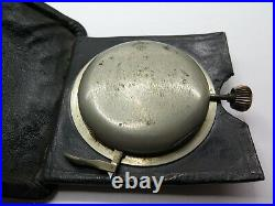 Hy Moser 8 day quarter repeating travel pocket watch in steel and leather case
