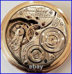 ILLINOIS 16S. Bunn Special 60H. 21J Type 3 Near mint 14K P. G. F. Bunn case (1928)