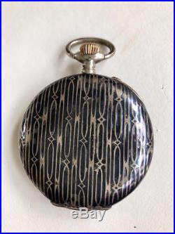 IWC International Watch Co. Niello-cased Pocket Watch