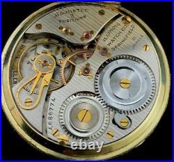 Illinois 12 Size 21 Jewel 2Tone Pocket watch Fancy 2Tone Display Case Near Mint