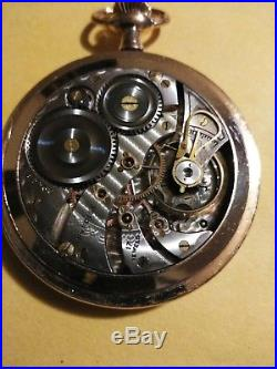 Illinois 12S. PRECISE 17 jewels gold trimmed movement gold filled enemaled case