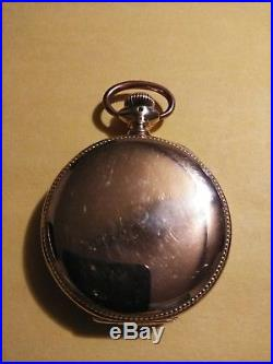 Illinois (1898) Montgomery wards 17 jewels Getty model gold filled hunter case