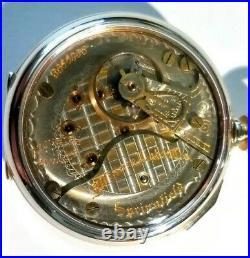 Illinois 18S 17 jewels adj. Two-tone Mint Super Fancy Dial (1918) display case