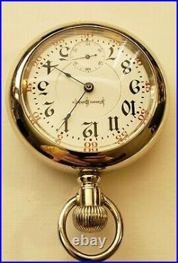 Illinois 18S 21J. Adj. Bunn Special (1911) Railroad pocket watch locomotive case