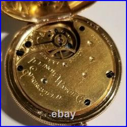 Illinois 4 size 7 jewel (1889) 14K. Gold filled hunter case near mint condition