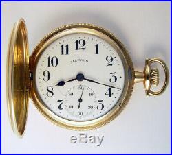 Illinois Bunn Special 21j 16s Scarce Hunting Case Railroad Pocket Watch