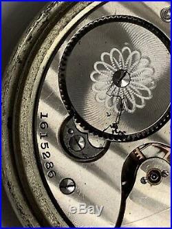 Illinois Getty Pocket Watch Grade 173 Mod 5 16s 15j Fahys Oresilver Case Ticking