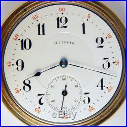 Illinois Grade 409 21 Jewel 12s Rare Hunting Case Pocket Watch