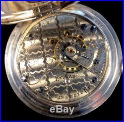 Illinois Stewart 18s 15J Rarer 4oz. Silver Hunter Case Extra Fine condition