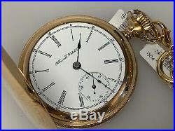 Illinois Watch Co. Gold Filled 18s 11 Jewels 81 Hunter Case Ticking