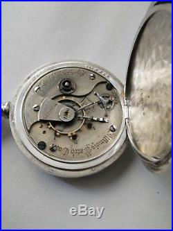 Illinois searcd (1882) 18S. 15 jewels ONLY MADE 4,350 coin silver hunter case