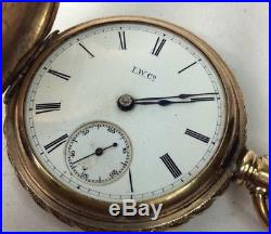 Illionios Watch 1888 Key Wind Gold Filled Hunter Case Size 18 (W169)