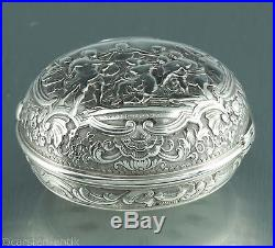 Important Onion pair case Repousse watch Charles Cabrier 1725 silver verge fusee