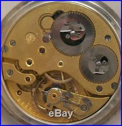 International Watch Co. Pocket Watch open face Silver case 52 mm. In diameter