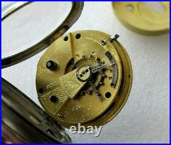 John Forrest Antique Pocket Watch Chronometer Maker London Sterling Case 1901