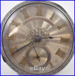 John Forrest Silver & Gold Cased Fusee Pocket Watch