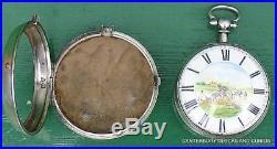 John Fowles East Grinstead Plough The Field Pair Case Verge Fusee Pocket Watch